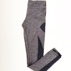Lanston Sport Gray And Black Sheer F/L Legging S